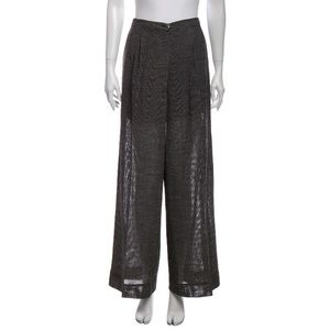 Chanel 1997 vintage wide leg mid-rise trousers